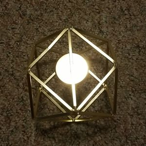 Accents - Gold Geometric Candle Holder